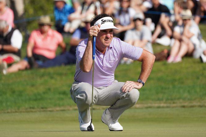 Gonzalo Fernández Castaño durante la segunda ronda en Dom Pedro Victoria Golf Course. © Golffile | Andy Crook