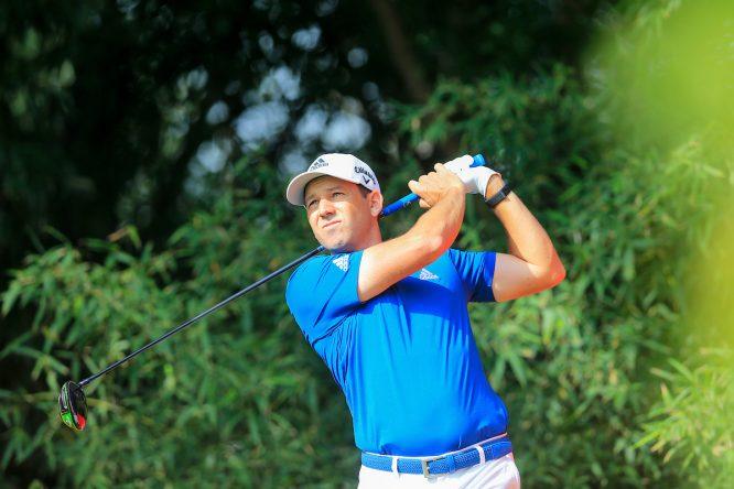 Sergio García durante el pro-am del WGC HSBC Champions en el Sheshan Golf Club de Shanghai. © Golffile | Fran Caffrey