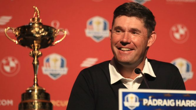 Harrington, en la rueda de prensa © Ryder Cup Europe