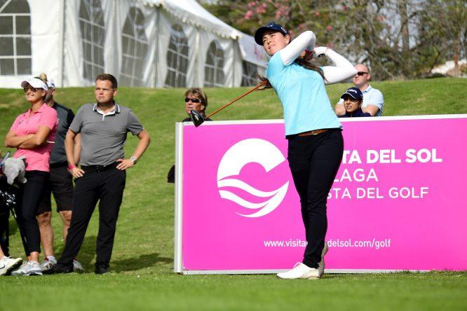 Nuria Iturrios en la previa del Andalucía Costa del Sol Open de España Femenino 2019.