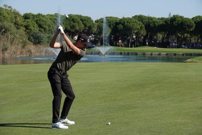 Matthias Schwab esta semana en el Montgomerie Maxx Royal. © Golffile | Phil Inglis