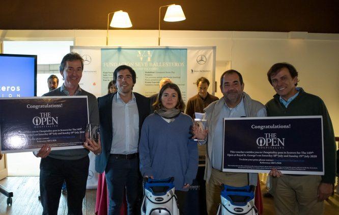 Los ganadores de la Final del VI Desafío Fundación Seve Ballesteros con Javier y Carmen Ballesteros. © Borja Pérez Lezama/Dug.company