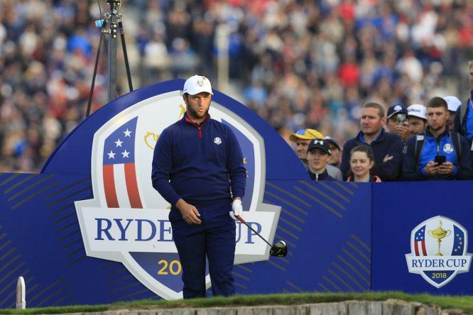 Jon Rahm en la Ryder Cup de 2018. © Golffile | Eoin Clarke