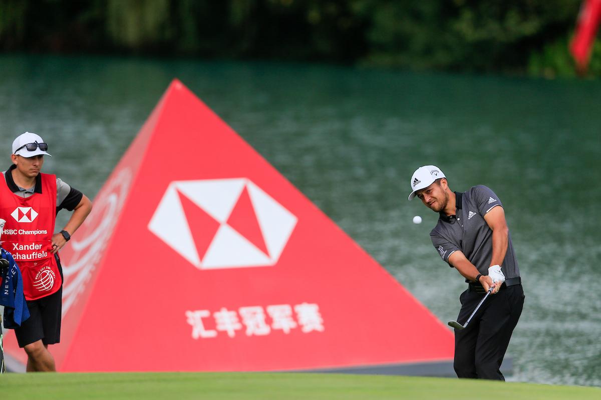 Xander Schauffele en la ronda del sábado en el Sheshan International. © Golffile | Fran Caffrey