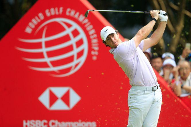 Rory McIlroy durante la tercera jornada del WGC HSBC Champions. © Golffile | Fran Caffrey