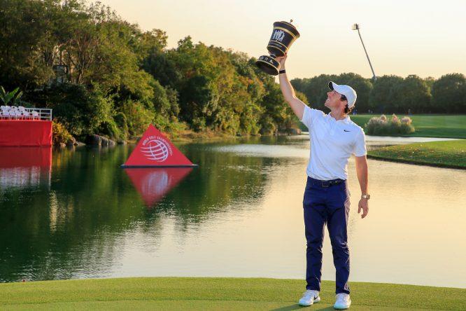 Rory McIlroy, ganador del WGC HSBC Champions 2019. © Golffile | Fran Caffrey