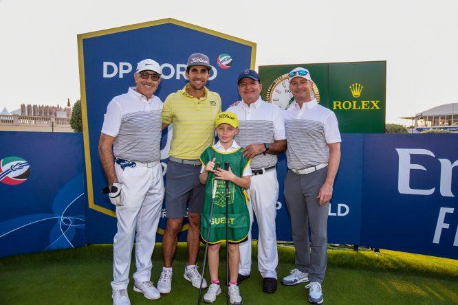 Rafa Cabrera Bello, en Dubai con sponsors y aficionados © DP World Tour Championship