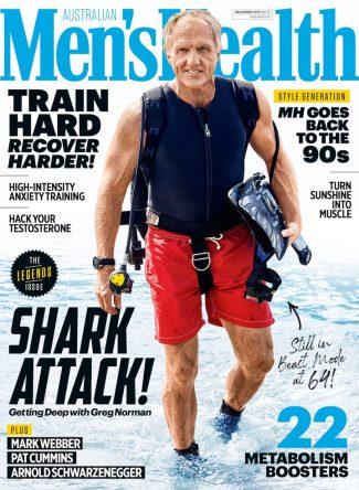 Greg Norman, en la portada de Men's Health © Men's Health