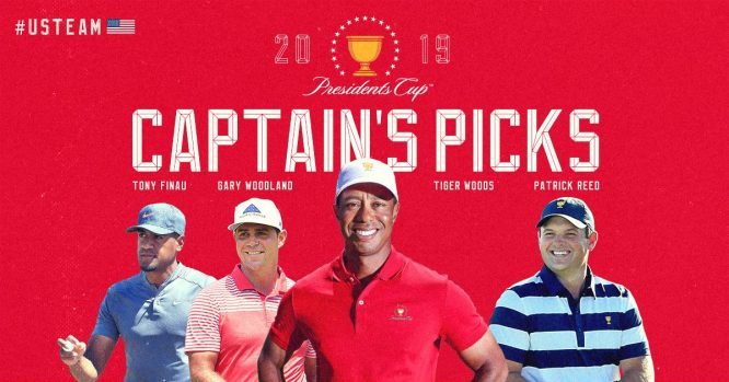 Elecciones de Tiger Woods © Presidents Cup
