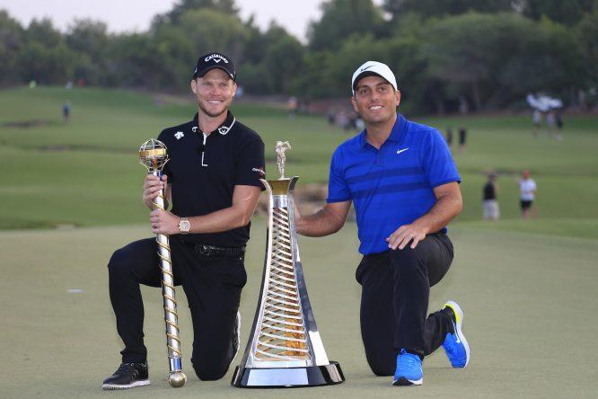Willett y Molinari, ganadores del DP y la Race en 2018 © Golffile | Fran Caffrey