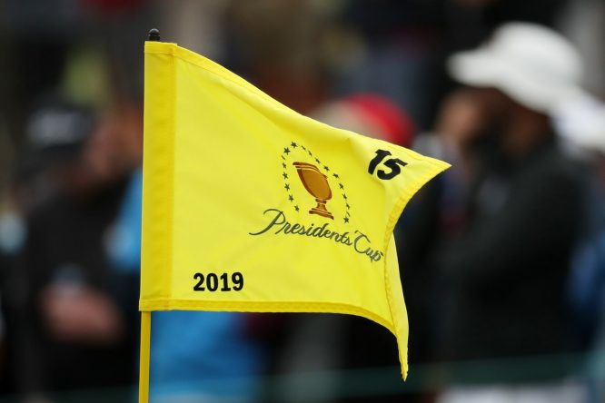 Bandera en la Presidents Cup © PGA Tour