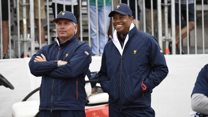 Tiger Woods, sonriente © Presidents Cup