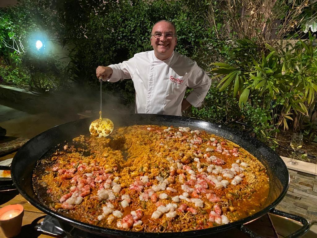 La magnífica paella de Mariano Andrés. © Tengolf