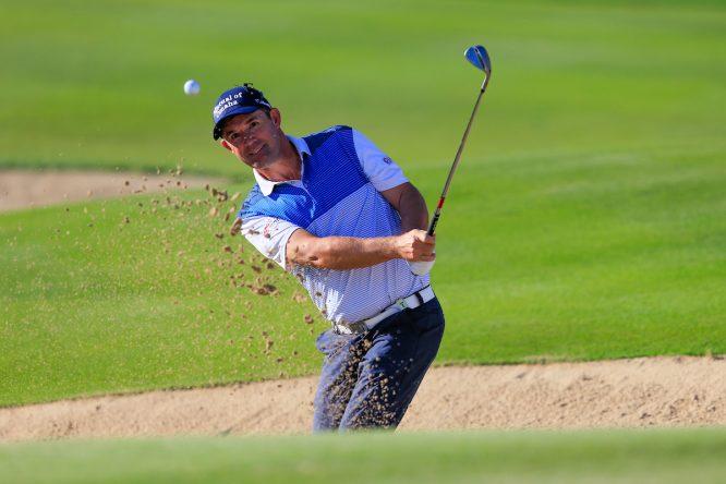Padraig Harrington la semana pasada en Abu Dhabi. © Golffile | Fran Caffrey