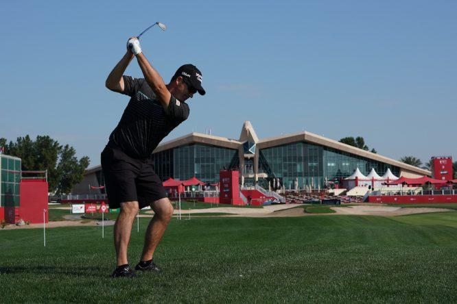 Padraig Harrington durante el Pro-Am del Abu Dhabi HSBC Championship. © Golffile   Thos Caffrey