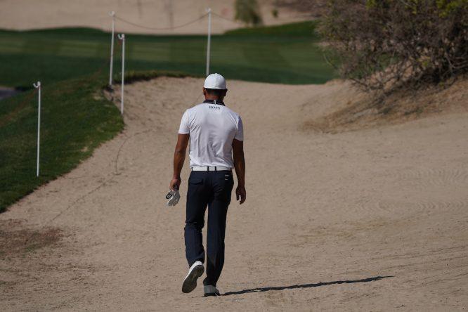 Ashun Wu en la primera ronda en el Abu Dhabi Golf Club. © Golffile | Thos Caffrey