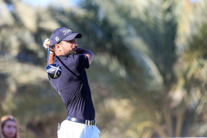 Francesco Laporta, líder del Abu Dhabi HSBC Championship tras la segunda jornada. © Golffile | Fran Caffrey