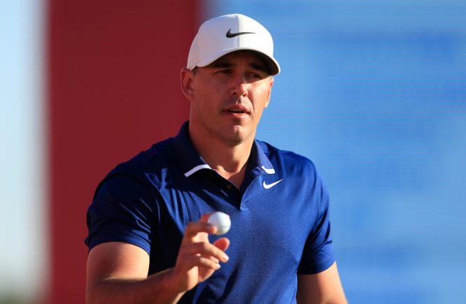 Brooks Koepka en la segunda ronda del Abu Dhabi HSBC Championship. © Golffile | Oisin Keniry