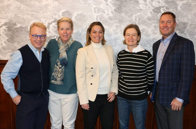 Keith Pelley, Figueras-Dotti, Alexandra Armas, Catriona Matthew y Mike Whan © LET