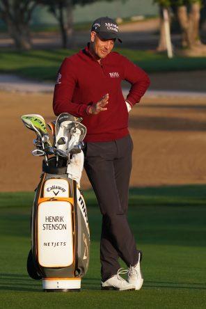 Henrik Stenson durante el pro-am del Omega Dubai Desert Classic. © Golffile | Thos Caffrey