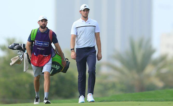 Thomas Pieters durante la primera ronda en Dubai. © Golffile   Oisin Keniry