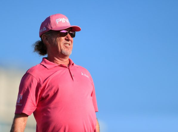 Miguel Ángel Jiménez la semana pasada en el Omega Dubai Desert Classic, su torneo número 704 en el European Tour. © Golffile   Oisin Keniry