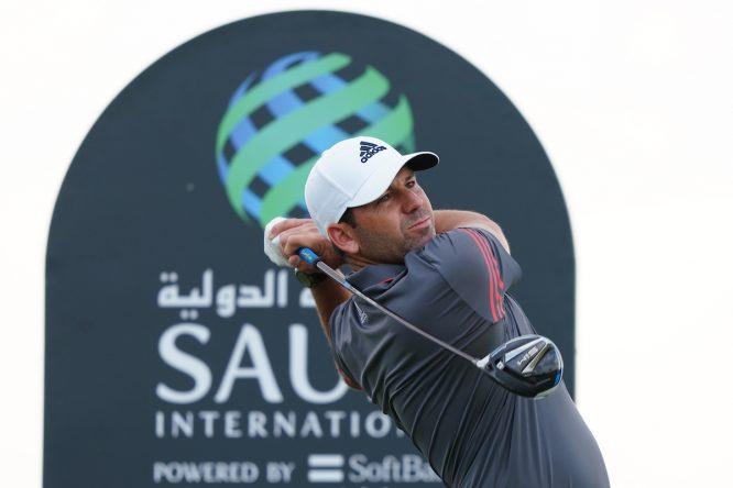 Sergio García durante la segunda ronda en Royal Greens Golf and Country Club. © Golffile | Thos Caffrey
