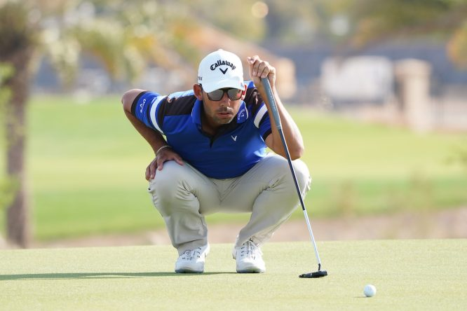 Pablo Larrazábal durante la segunda ronda en Royal Greens Golf and Country Club. © Golffile | Thos Caffrey