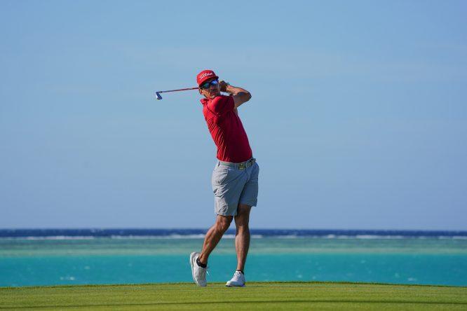 Rafa Cabrera Bello durante el pro-am del Saudi International. © Golffile   Thos Caffrey