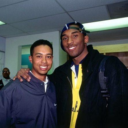 Tiger Woods y Kobe Bryant, en 1997