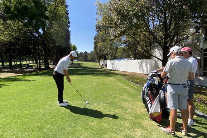 Jon Rahm, el martes durante la ronda de prácticas en Chapultepec. © Ten Golf