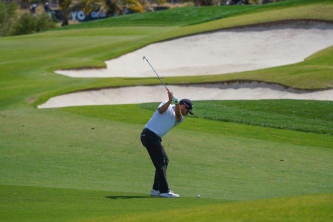 Pablo Larrazábal durante la tercera ronda en Royal Greens Golf and Country Club. © Golffile   Thos Caffrey