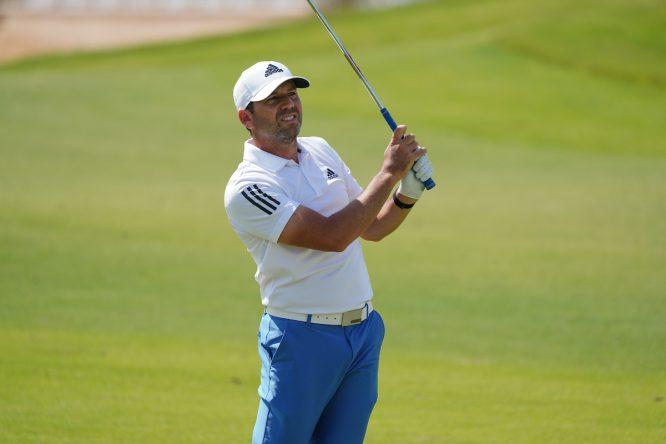Sergio García en la jornada final en el Royal Greens Golf and Country Club. © Golffile | Thos Caffrey