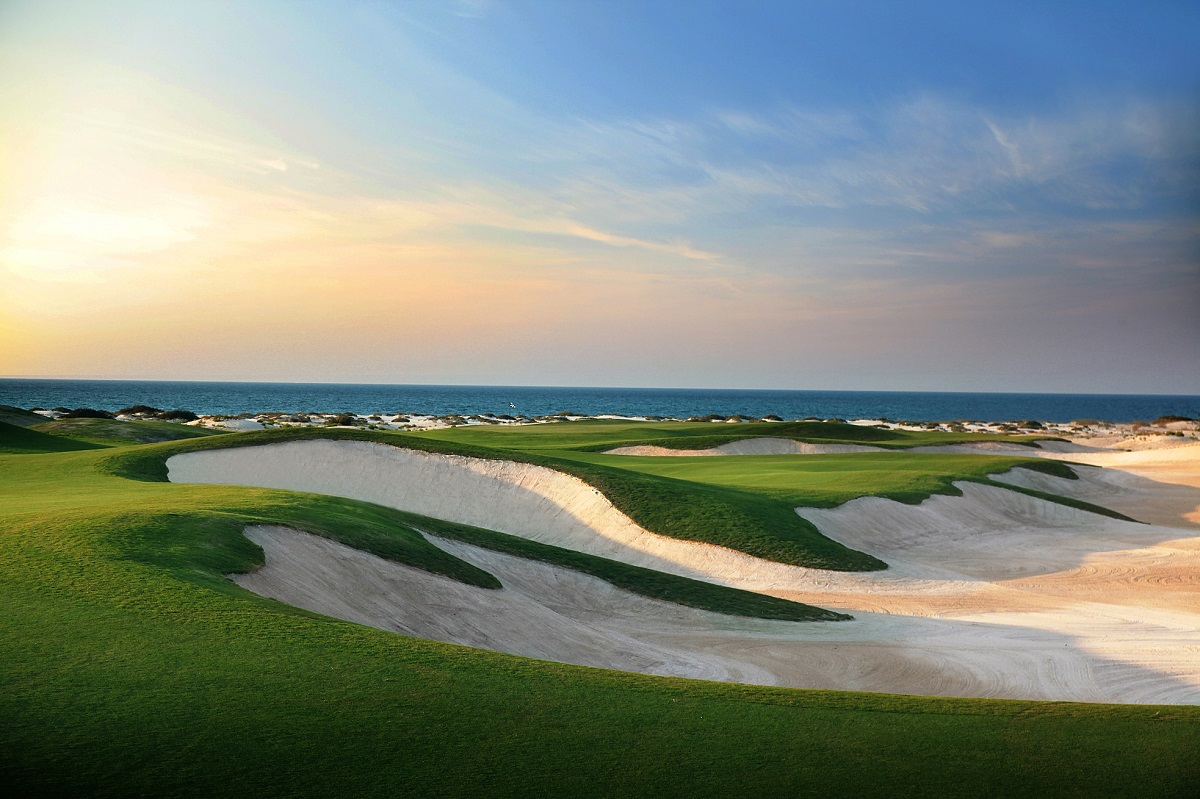 Stunning views across Saadiyat Beach Golf Club.