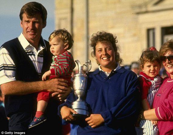 Nick Faldo, con su familia
