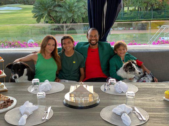 Tiger Woods, con su pareja y sus hijos © Tiger Woods