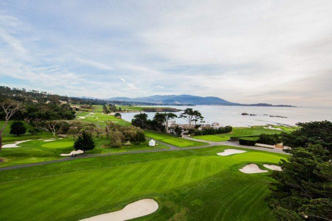 Vista del green del hoyo 3 de Pebble Beach Golf Links