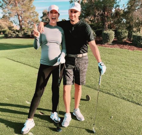 Michelle Wie, con su marido © Instagram