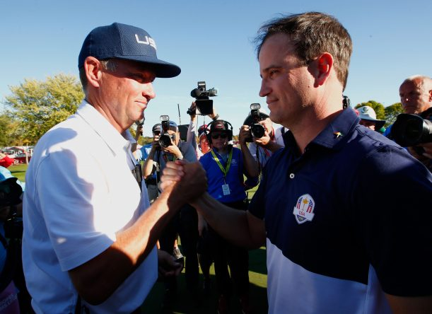 Davis Love III y Zach Johnson © Jamie Squire/Getty Images