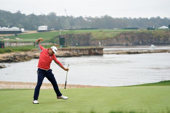 Gary Woodland en el US Open de 2019 en Pebble Beach. © Golffile | Fran Caffrey