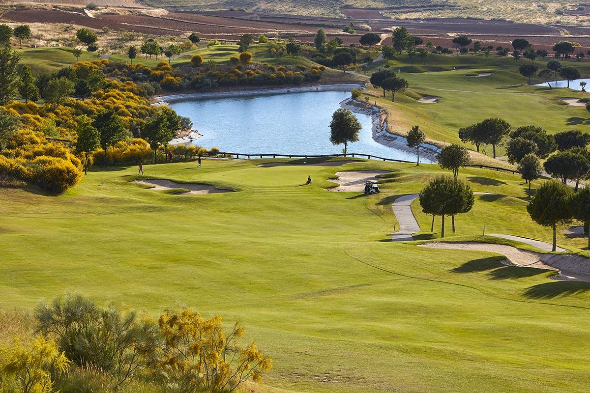 Hoyo 15 del Club de Golf Retamares.