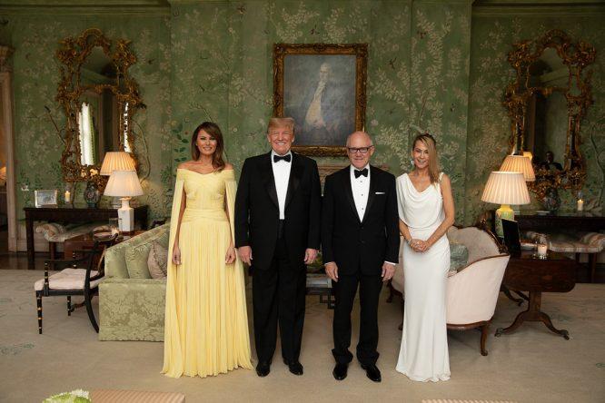 Trump y Melania, con Woody y su mujer © The White House