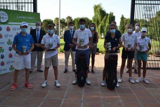 Los ganadores de los Campeonatos de Andalucía Infantil, Alevín y Benjamín. © RFGA