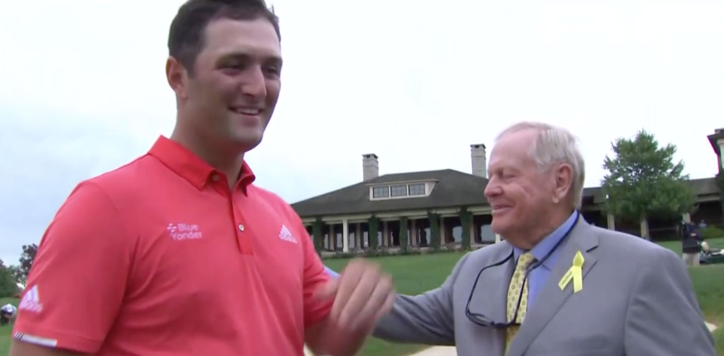 Jon Rahm y Jack Nicklaus, despidiéndose © Captura de TV