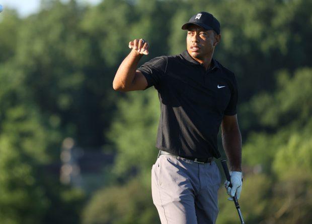 Tiger, en las rondas de prácticas del Memorial © PGA Tour