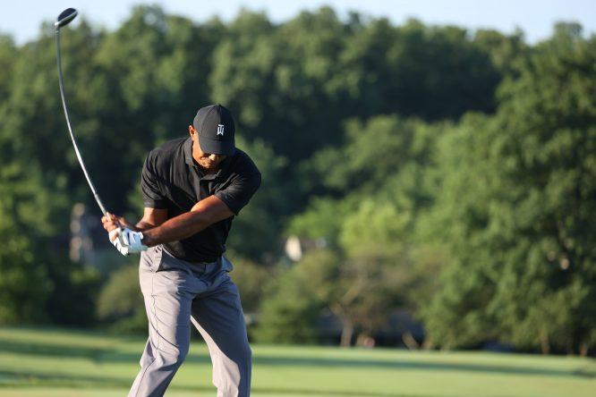 Tiger Woods, practicando en Muirfield © PGA Tour