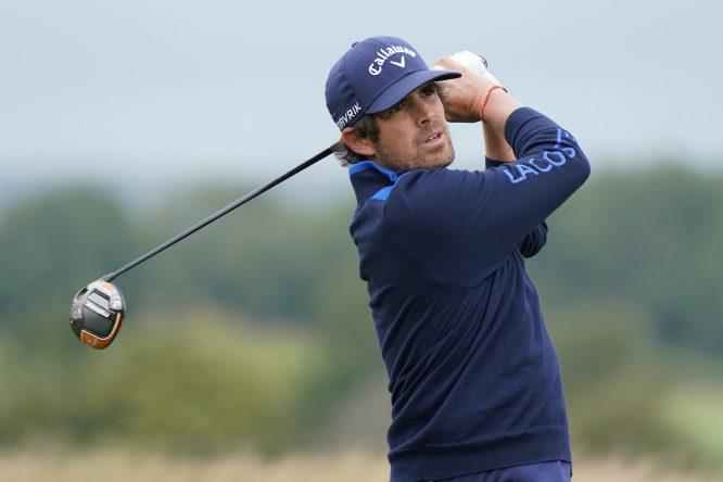 Nacho Elvira durante la segunda ronda en el Twenty Ten course de Celtic Manor. © Golffile | Phil Inglis