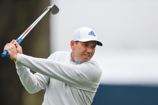 Sergio García en la previa del PGA en TPC Harding Park. © Golffile   Ken Murray