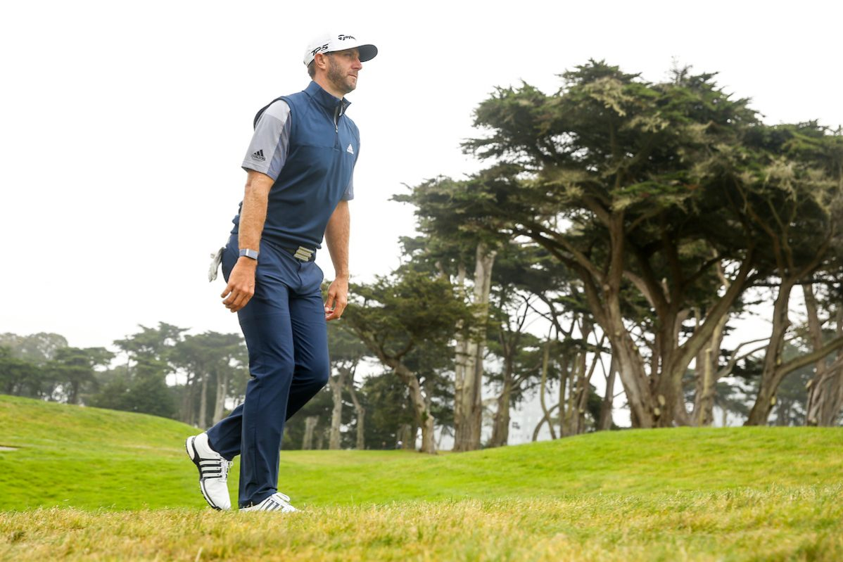 Dustin Johnson en la jornada final del PGA. © Golffile | Scott Halleran
