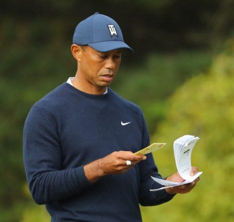 Tiger Woods en la segunda ronda en TPC Harding Park. © Golffile | Ken Murray